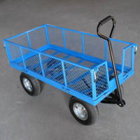 steel mesh garden folding beach cart with wheels
