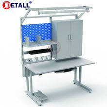 Detall electronics lab work table with upper cabinet