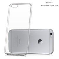 China Factory Wholesale Transparent Clear Blank TPU Cell Phone Case For iPhone 6 Plus