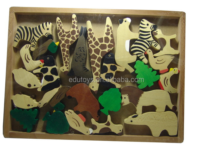 New 2017 Educational Animal Wooden Puzzle