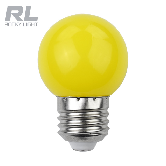 E27 G45 holiday lighting 3 watt 220v mini led bulb yellow red white christmas decorative light pc cover led magic color bulb