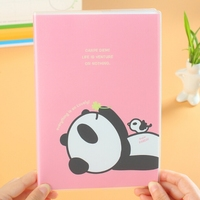PP cover note book,panda design notebook,animal notebook