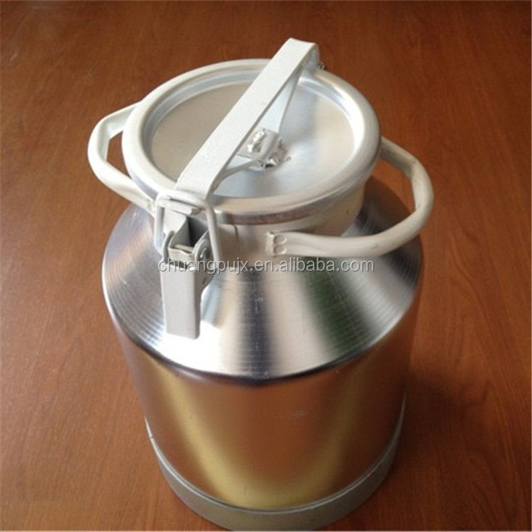 Aluminium Bucket with Sealing Cover for Milk Transport and Storage Bucket