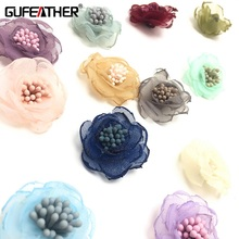 GUFEATHER L50,Jewelry Accessories Diy Earrings Findings Clothes And Wedding Decoration Flowers Pendant,4pcs/pack