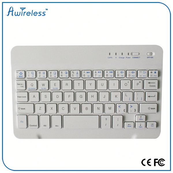 ABS material mini portable Bluetooth Keyboard 3.0 with leather case