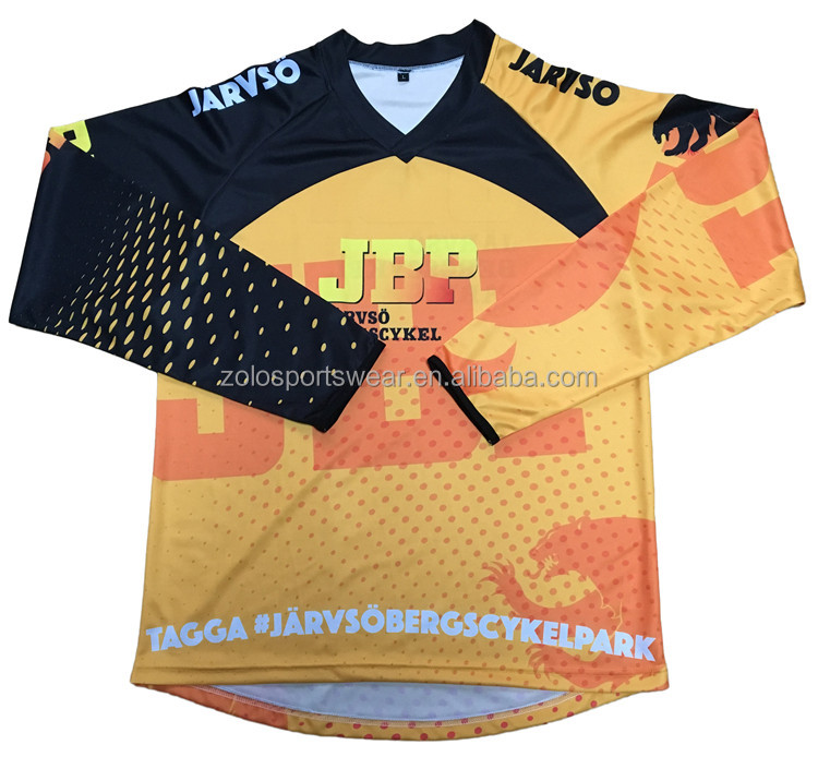 Wholesale Sublimation Motocross Clothing;Custom Design Bmx Jersey