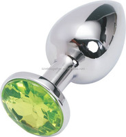 Middle size stainless steel anal butt plug for female