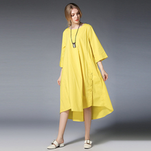 Wholesale New Design Summer Lady Round Neck Casual Dress Sexy Loose Women Shirt Dresses