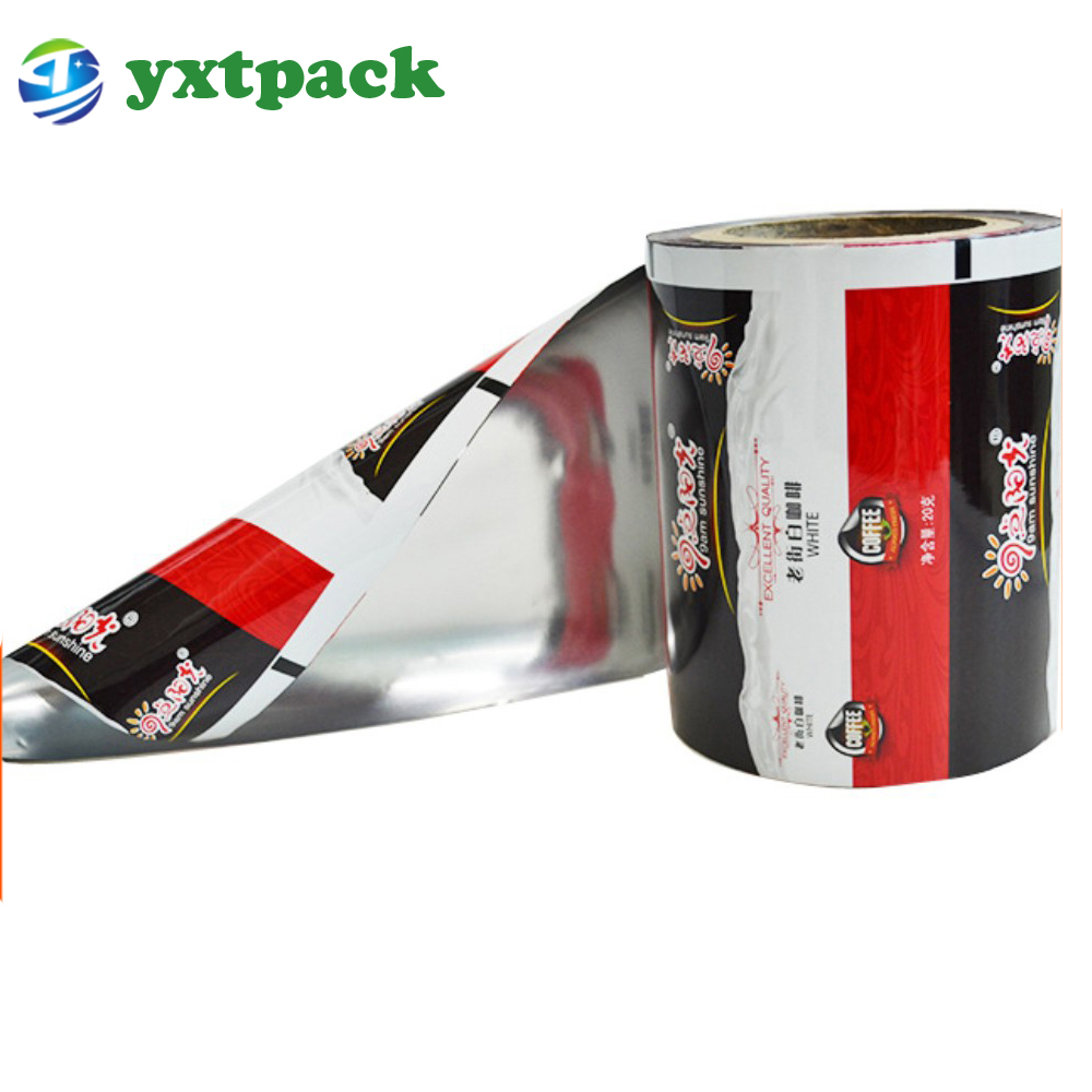 Manufacturer waterproof laminated aluminum foil plastic coffee packaging roll/film