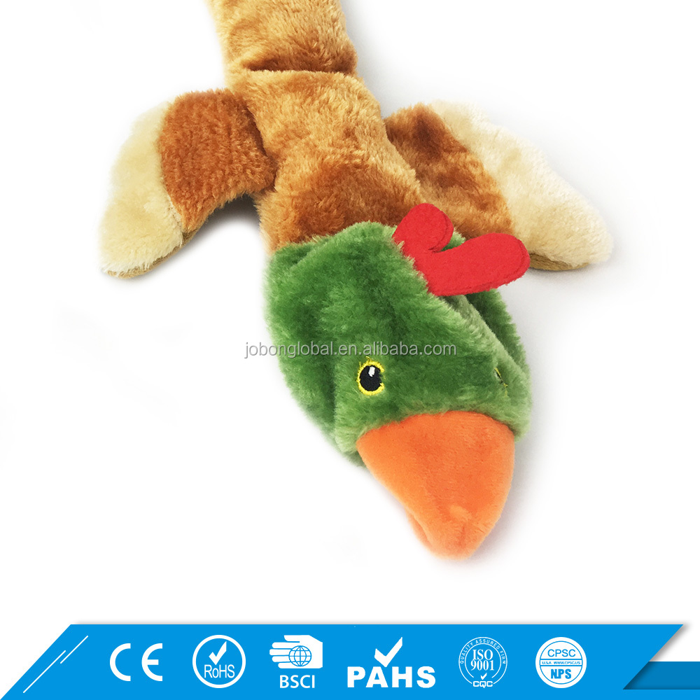 Top Sale Bird Dog Pet Toys Fluff Animal Shape Color Assorted Puppy Squeak Toy