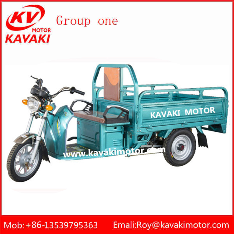 2016 60V 32Ah 900W KAVAKI Three Wheel Electric Cargo Tricycle For Sale