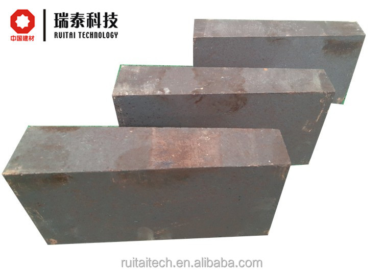 Direct bonded magnesia chrome refractory brick used in the electric arc funace