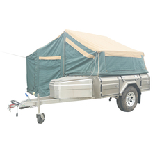 Soft Floor stainless steel Offroad Camping Trailer With Tent