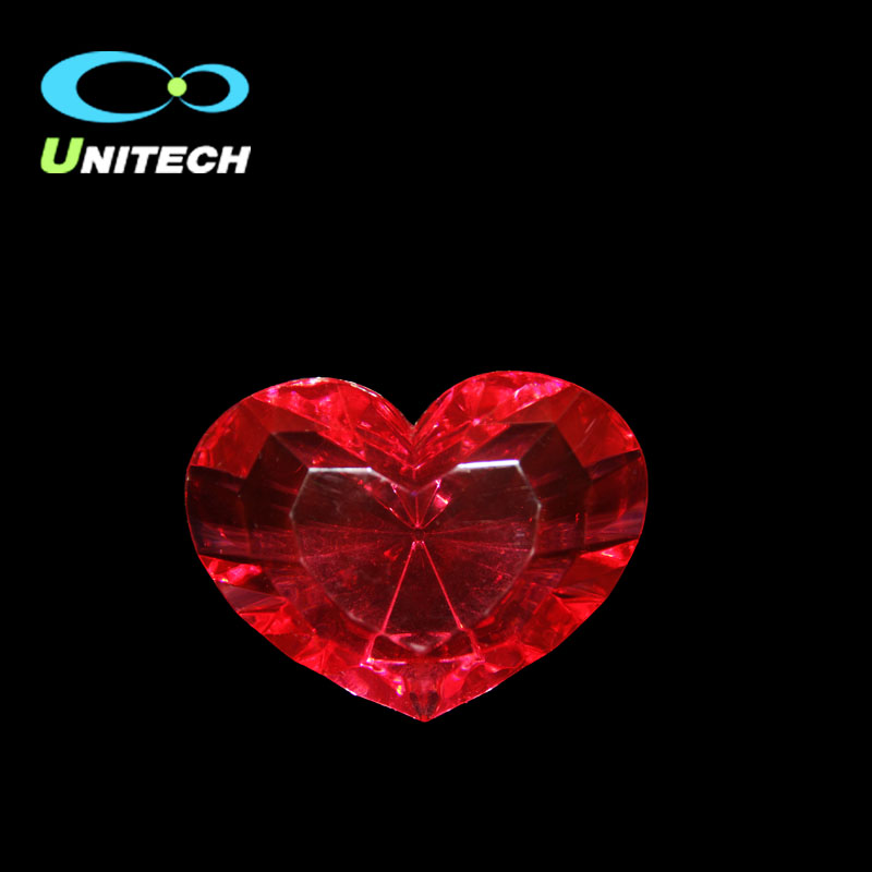 Accept Customized Red Any Color Crystal Heart Diamond