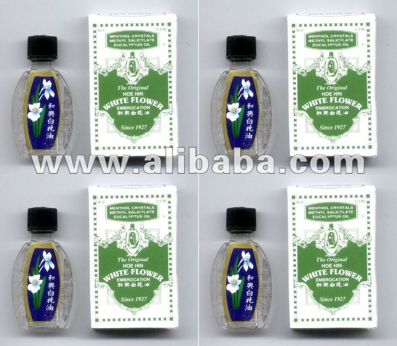 4 White Flower Oil Embrocation for Dizziness Insect Bites