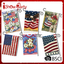 100% Polyester Customized 300D Polyester 30*45cm 70*100cm Festival Flags