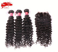 Factoty Price Virgin Eurasian Deep Wave Weft Original Hair
