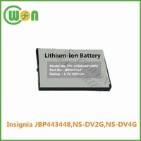 JBP443448 High quality Replacement battery for Insignia NS-DV2G NS-DV4G 3.7V 750mAh Li-ion replacement battery
