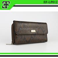 Funky latest luxury genuine snake skin clutch purse leather wallet