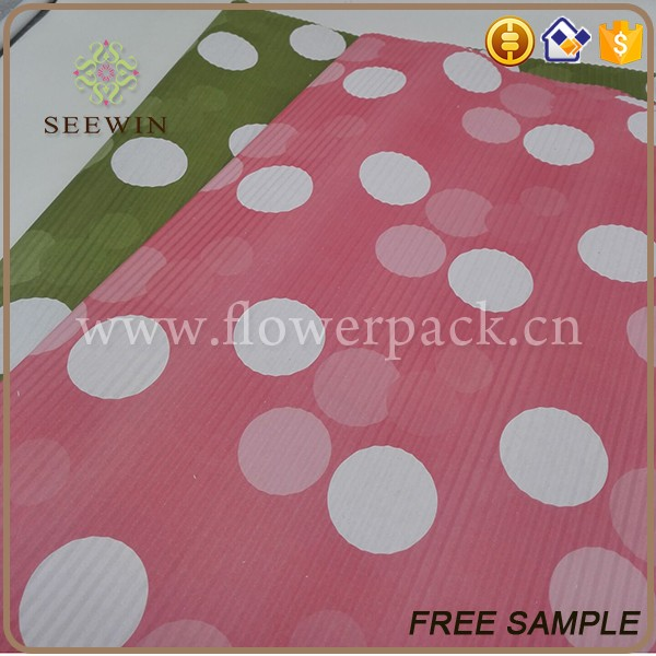 wholesale colorful printed pattern floral wrapping corrugated paper