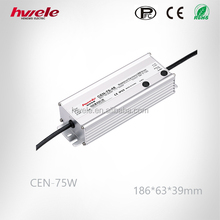 CEN-75W 24V LED dimmable power supply/IP 65