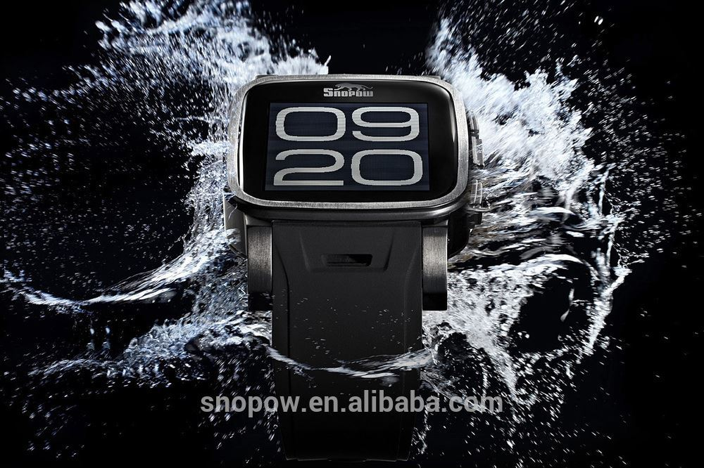SNOPOW W1IP68 waterproof stainless steel Transflective screen 1.65 inches smart watch and phone