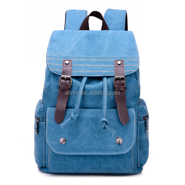 new stylish cheap nice canvas travel backpack for young
