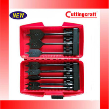 8 Pcs Flat Wood Core Drill Bit Set