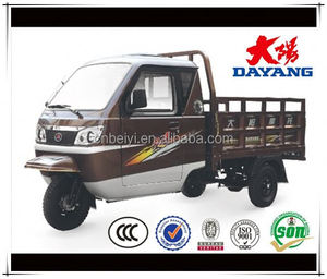 high quality gasoline cargo tricycle with closed cabin