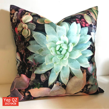 Fancy beauty custom design digital printing high quality soft cotton Decoration Cushion Cover