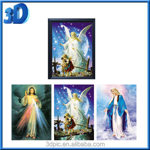3D Poster Picture Lenticular Printing Jesus Advertisement Publication Free Sample Decoration Customized PET/PP