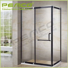 Prefabricated bathroom 304 stainless steel sliding retractable glass shower screen