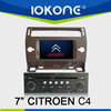 7inch Car Multimedia entertainment System In Dash Car dvd player for CITROEN C4