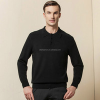 mens cashmere long sleeve polo shirts wholesale china