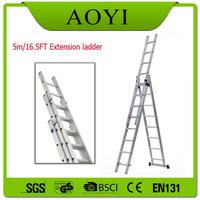 EN131 aluminium self supporting 40 foot tall ladders