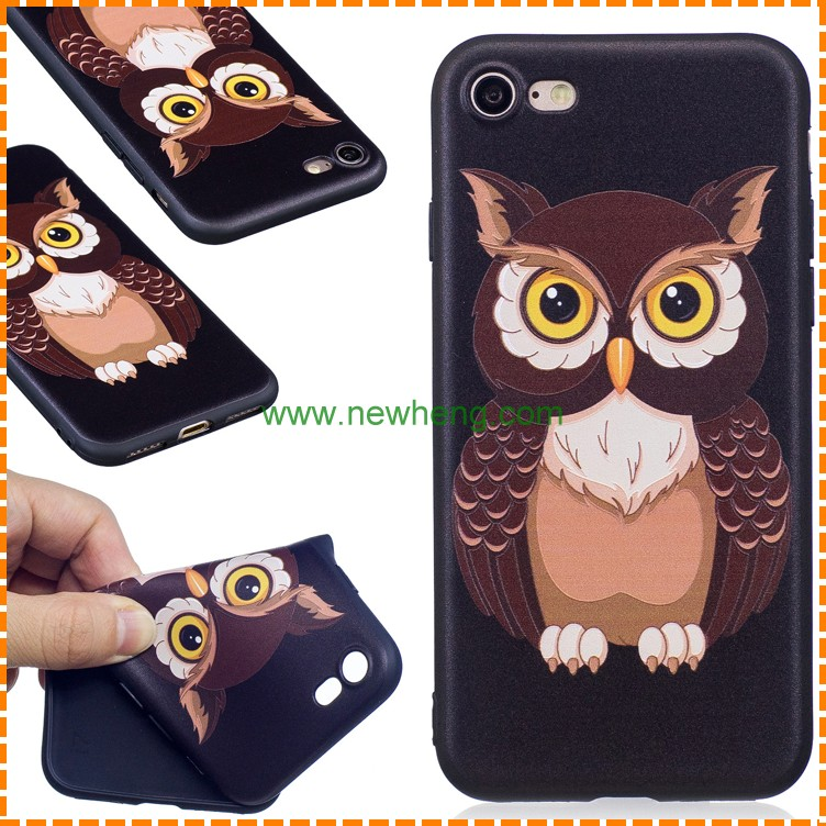 Owl Mobile Phone Case for iPhone 7 Plus , for iPhone 7 TPU Case Flower