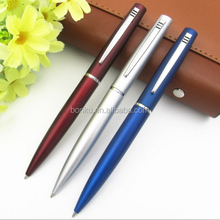 metallic lacquer painted twist custom logo printed ballpoint pen
