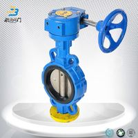 Repair kits dn50 rubber seat butterfly valve with gear box