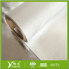 aluminum film coated fiberglass radiant heat reflective fabric with silicone rubber vapor barrier
