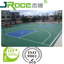 Outdoor rubber basketball court material