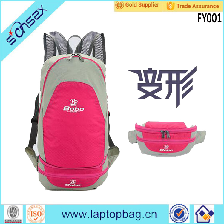 2016 New design fashion light weight cheap backpack nylon travel foldable backpack design