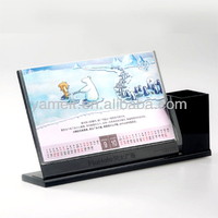 Exquisite Stylish 2013 desk pen holder with calendar