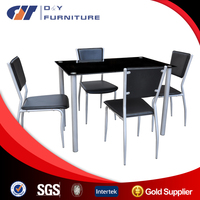 Promotion glass dining table,4 seater glass dining table