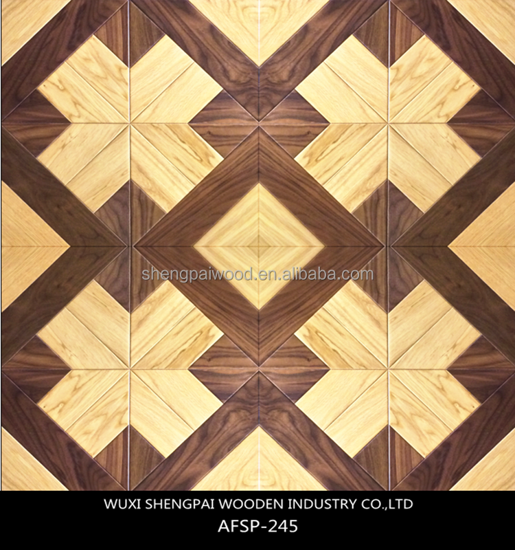 factory product laminated engineered art parquet wood flooring