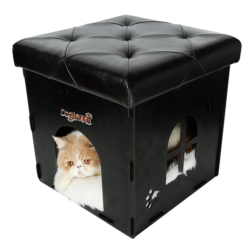 Functional Nature Wooden Cat House Cave Pet house