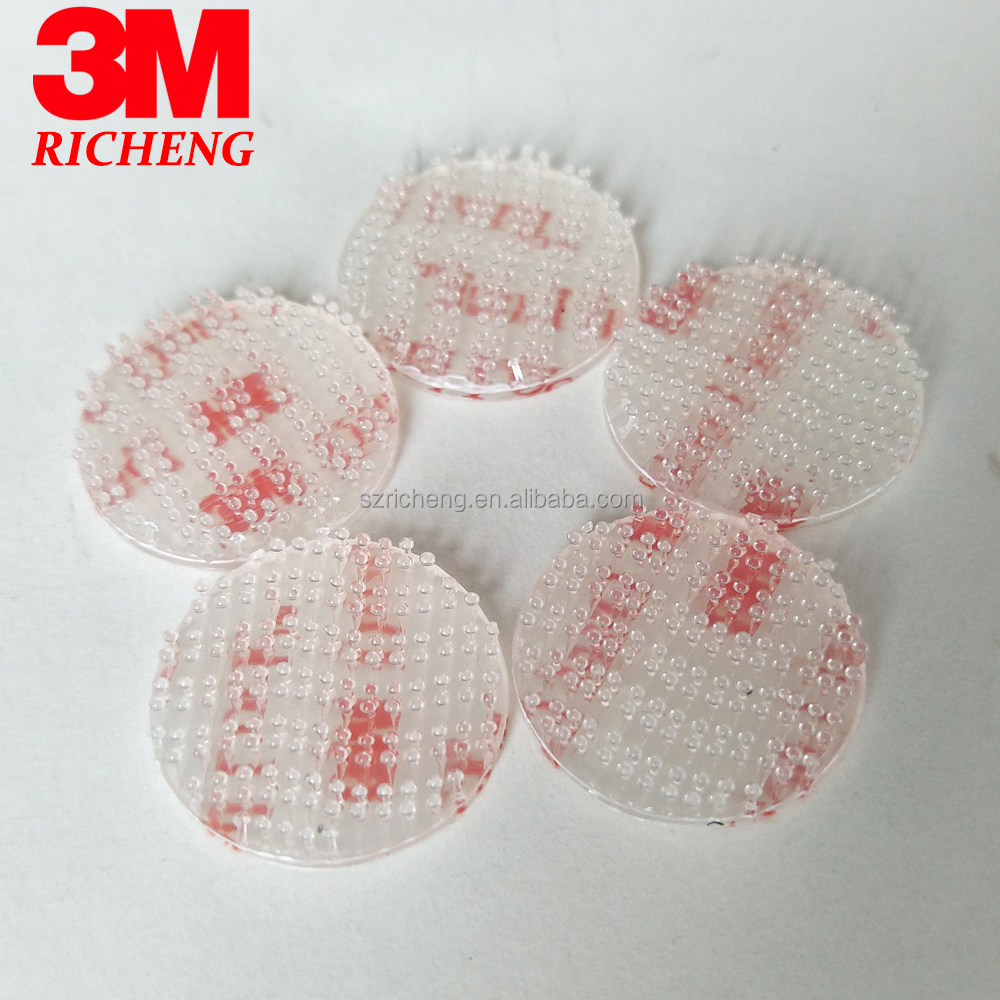 white conformable acrylic foam adhesive reclosable fastener tape 3M Dual Lock die cut circles SJ3560