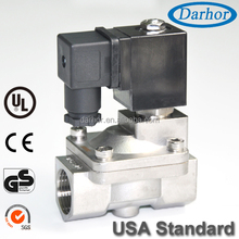 Pilot Operated valve solenoid diaphragm air 24v stainless steel water nc