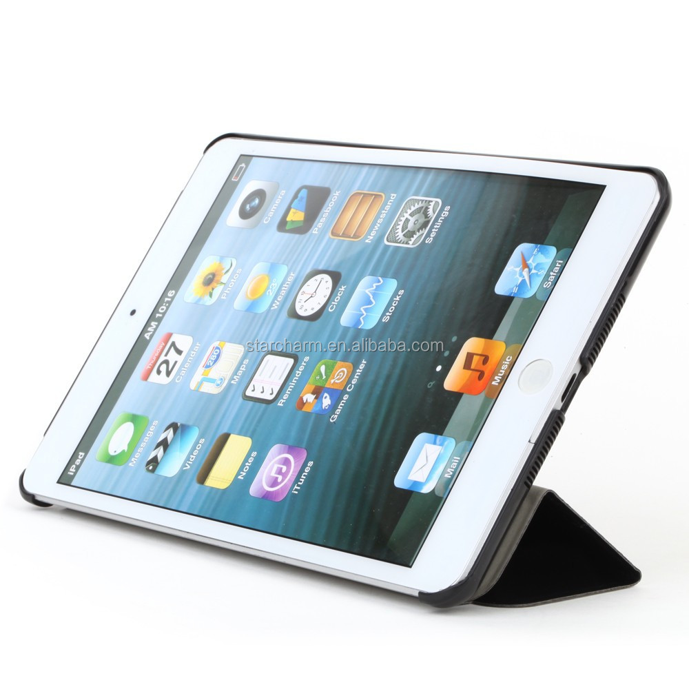 flip leather cover case for ipad mini 3 tablet case