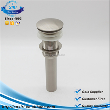Factory Brushed Bathroom Bath Sink Lavatory Lav Vessel Faucet Pop Up Drain Without Overflow 8416S