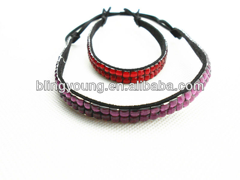 New hot selling hair accessories crystal stretch headbands for sale BY-1807